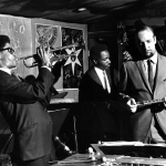 Bruno Carr (d), Jimmy Owens (t), Reggie Workman (b), Herbie Mann (fl), Shelly's Manhole Los Angeles, CA, 1966 Photographer Unknown